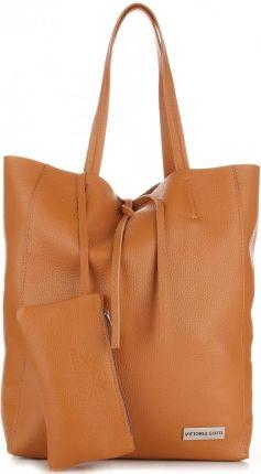 9ed53ec385403 Torebki Skórzane VITTORIA GOTTI Modny Shopperbag z Etui Rudy (kolory) ...