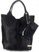 338553e54d16f Torebki Skórzane VITTORIA GOTTI Made in Italy Shopper bag Aligator Granat  (kolory) ...