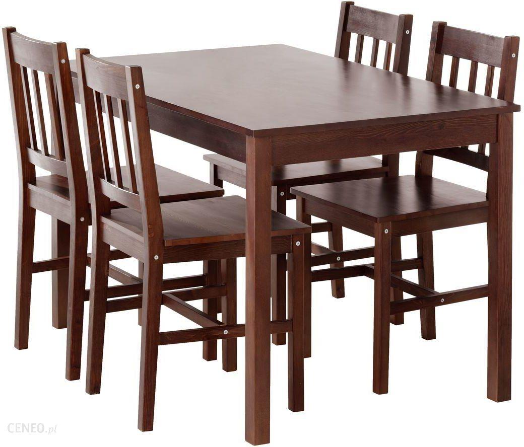 Jysk Stół 4 Krzesła Tylstrup Kawowy