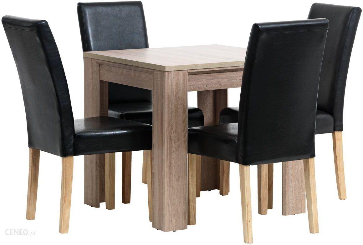 Jysk Stół Hallund 80x80 4 Krzesła Tureby