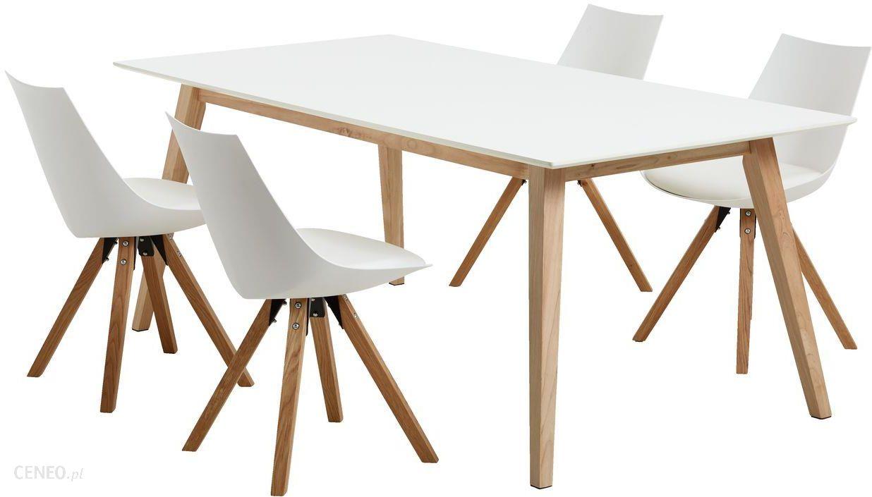Jysk Stół Tarup 4 Krzesła Ore Biały Dąb