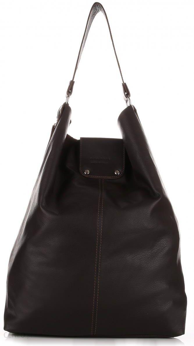 cef0acd2182c4 Torba Skórzana Duży Shopper Bag XXL Czekoladowa (kolory) - Ceny i ...