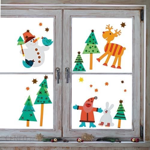 Kolorowe wi teczne okna zestaw pozwala tchn nieco - Fensterdeko weihnachten kinder ...