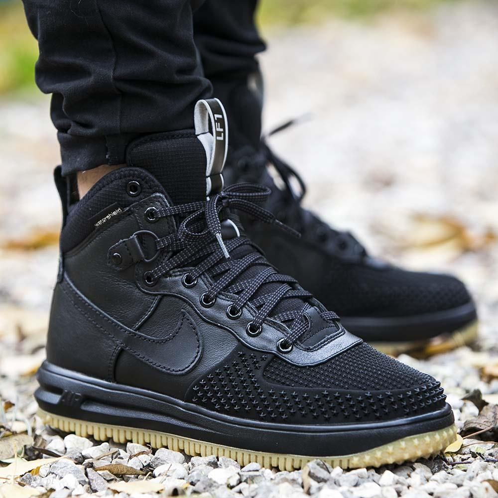 Sneakers buty zimowe Nike Lunar Force 1 Duckboot black black metallic silver an 805899 003