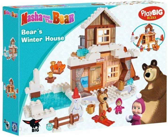 Klocki Big Klocki Masza I Niedźwiedź Zimowy Dom Niedźwiedzia 57100