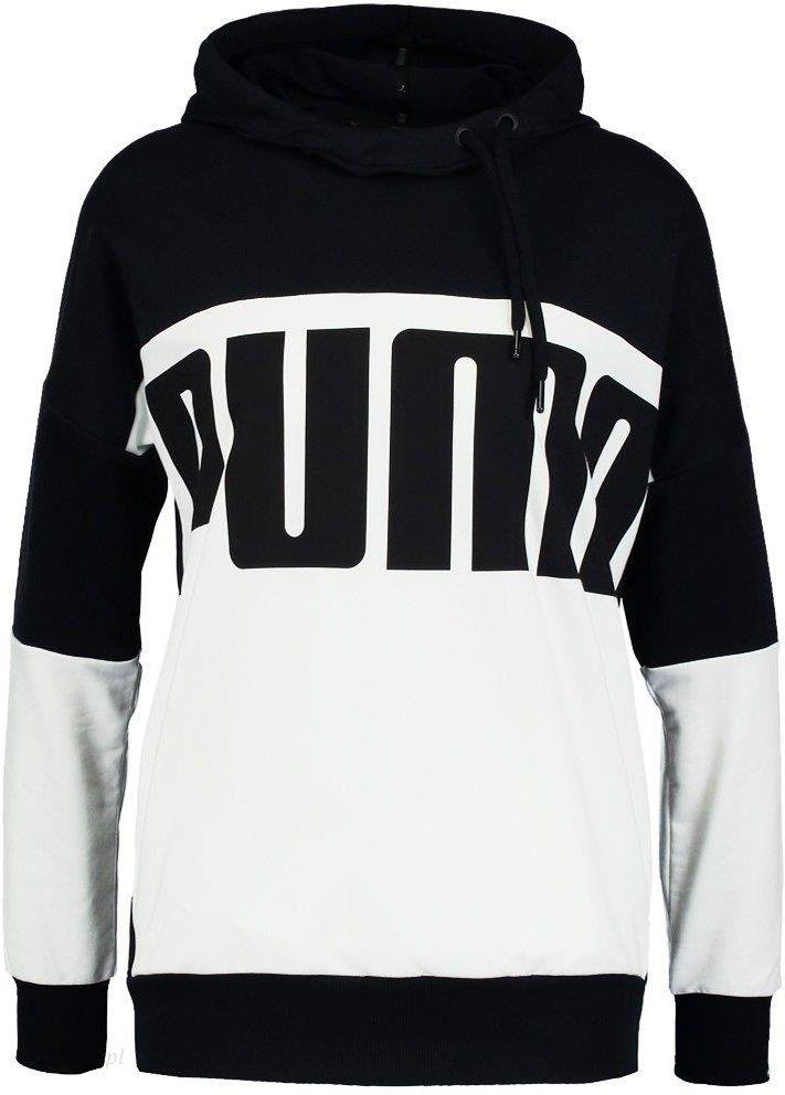 puma bluza z kapturem czarno białą
