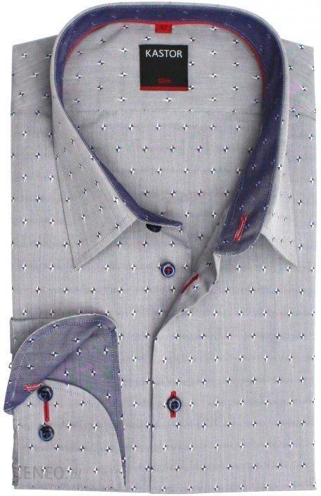 d13b818604d3 Koszula męska slim fit szara elegancka Kastor 42 - Ceny i opinie ...