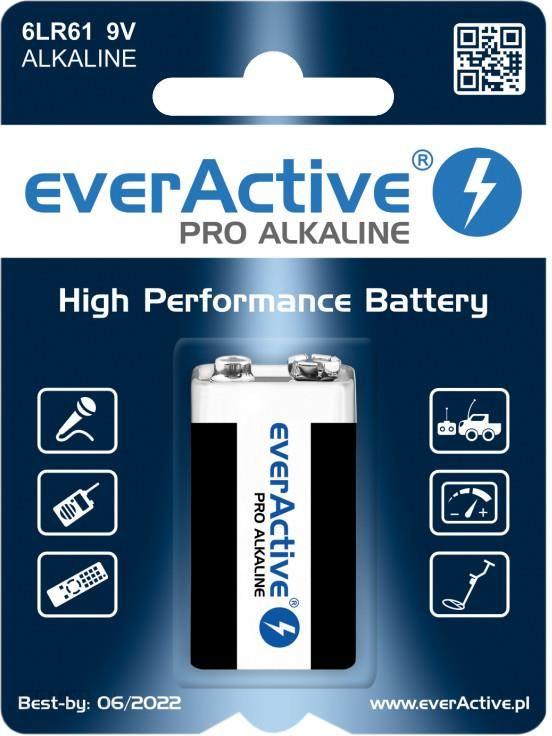 EverActive Pro 6LR61 / 6LF22 9V 1szt.