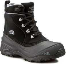 9a3b87646a08b Śniegowce THE NORTH FACE - Youth Chilkat Lace II T92T5RKZ2 TNF Black Zinc  Grey eobuwie. Buty zimowe dziecięce The North ...