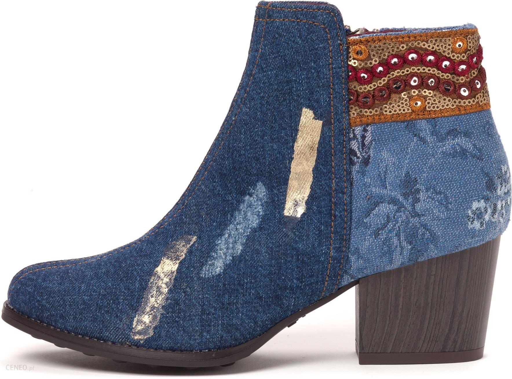 b03246a7f5e3f9 Desigual buty za kostkę damskie 40 niebieski - Ceny i opinie - Ceneo.pl