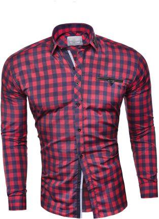 4F [H T4L12 KKM001] Koszula męska z krótkim rękawem KKM001  WjoLl