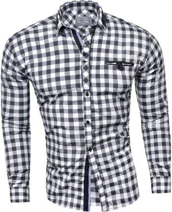 Koszula męska długi rękaw 611 jeansowa Ceny i opinie