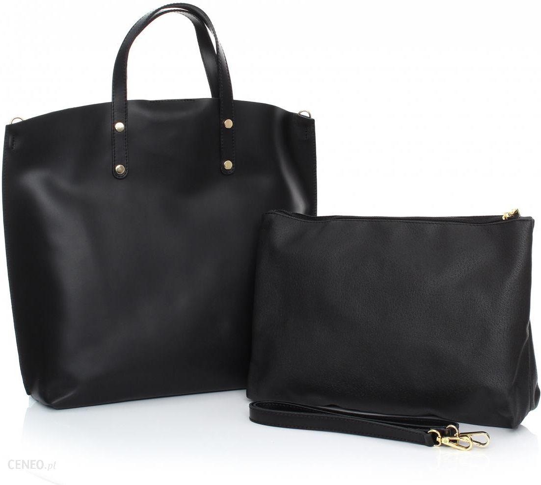 1ec0c3c4b8caa Torebka Skórzana Shopperbag z Kosmetyczką Czarna (kolory) - Ceny i ...