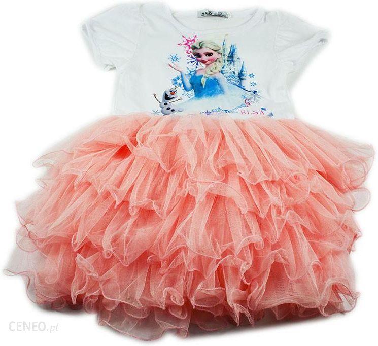 6dd5ff86cc Różowa sukienka Elsa Kraina Lodu 120cm - Ceny i opinie - Ceneo.pl
