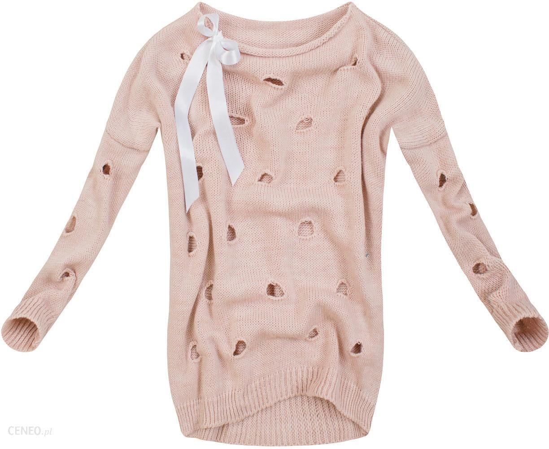 Sweter Z Dziurami Rozowy Good82 Ceny I Opinie Ceneo Pl