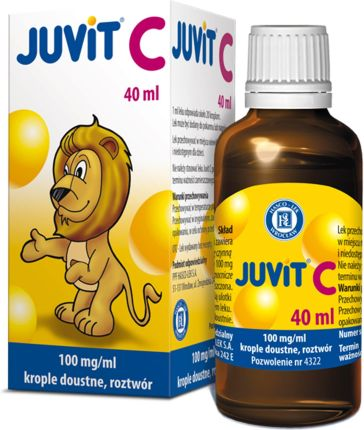 Juvit C krople 0,1 g/1ml 40ml