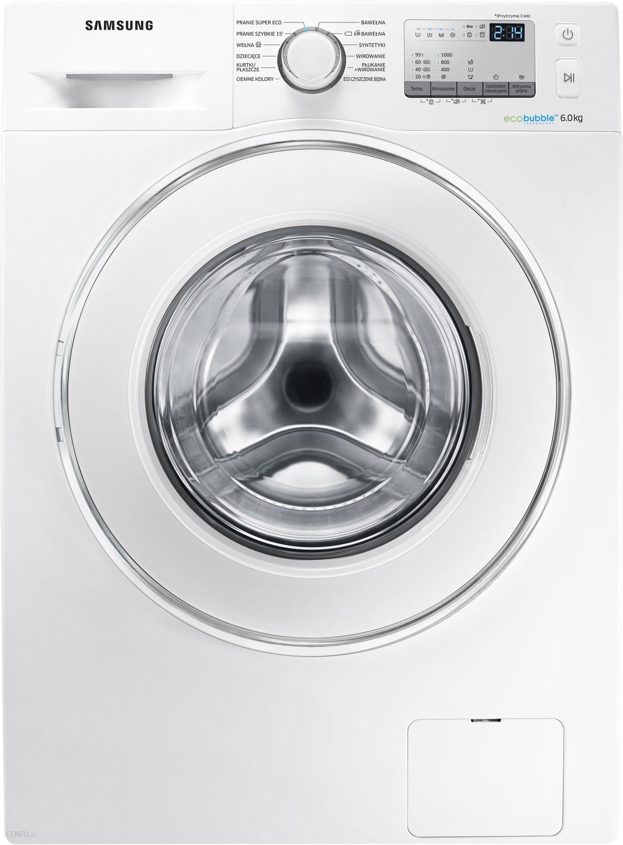 Pralka Samsung Eco Bubble Ww60j4063jw Opinie I Ceny Na Ceneo Pl