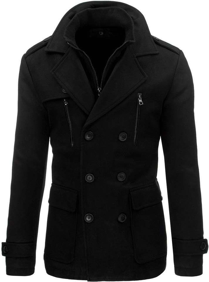 Płaszcz męski zimowy czarny (cx0326)