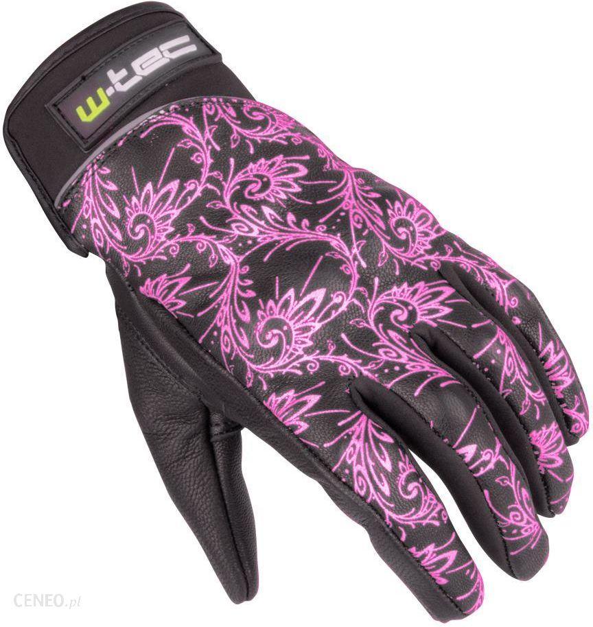 ba1d265778fd71 Rękawice motocyklowe Damskie skórzane rękawice motocyklowe W-TEC NF-4208,  czarno-różowy