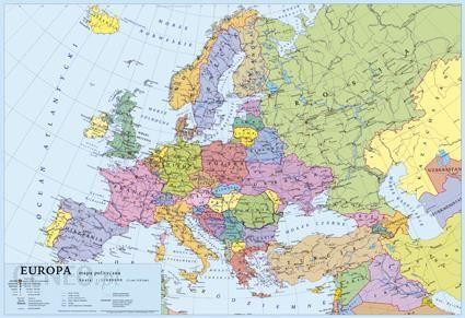 Podklad Szkolny Na Biurko A2 Mapa Europy Ceny I Opinie Ceneo Pl