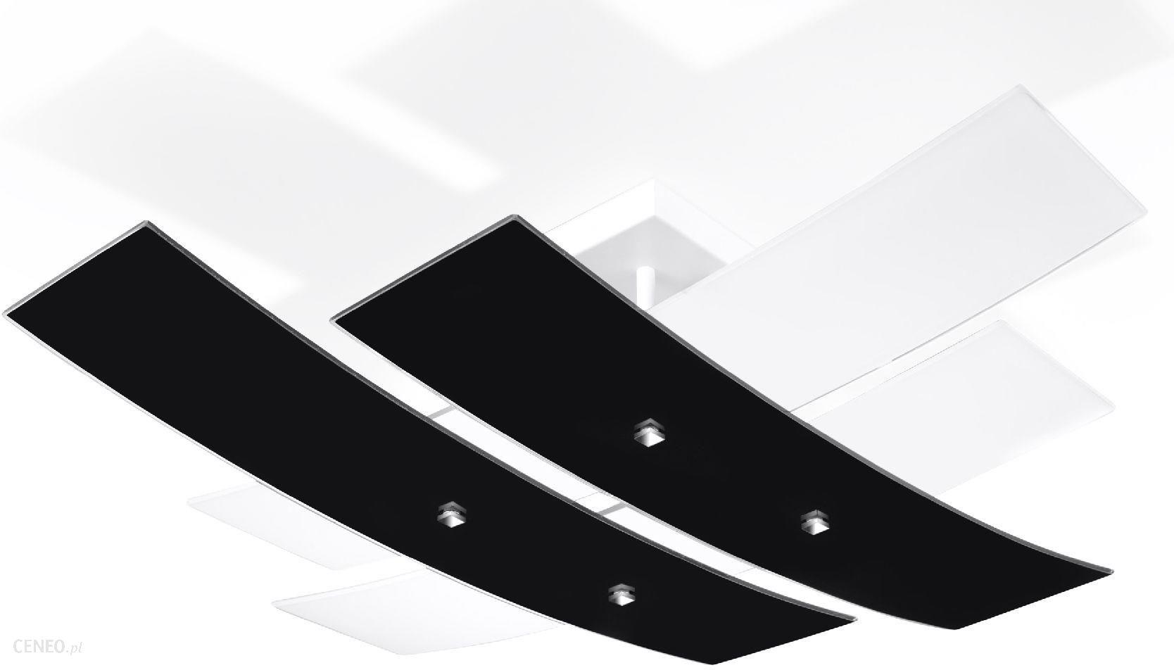 lampa sufitowa 4 p omienna ze szklan tafl szk a elementy metalowe wyko czone w kolorze. Black Bedroom Furniture Sets. Home Design Ideas