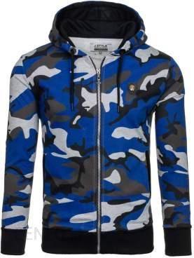 Moro niebieska bluza męska z kapturem Denley 2104 NIEBIESKI