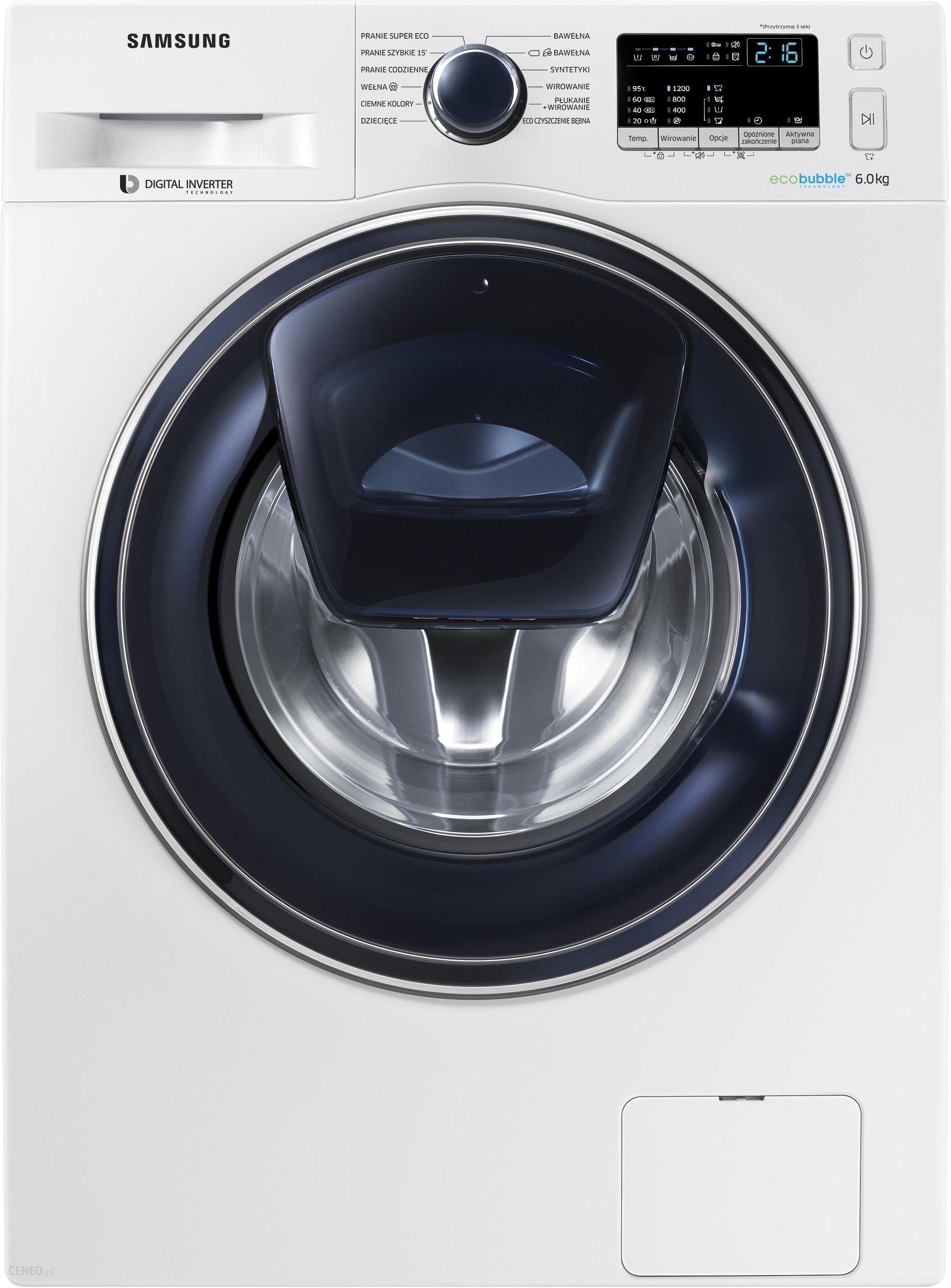 Pralka Samsung Addwash Slim Ww60k52109w Opinie I Ceny Na Ceneo Pl