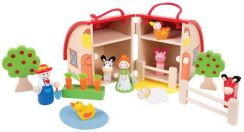 Bigjigs Toys Mini Farma Domek