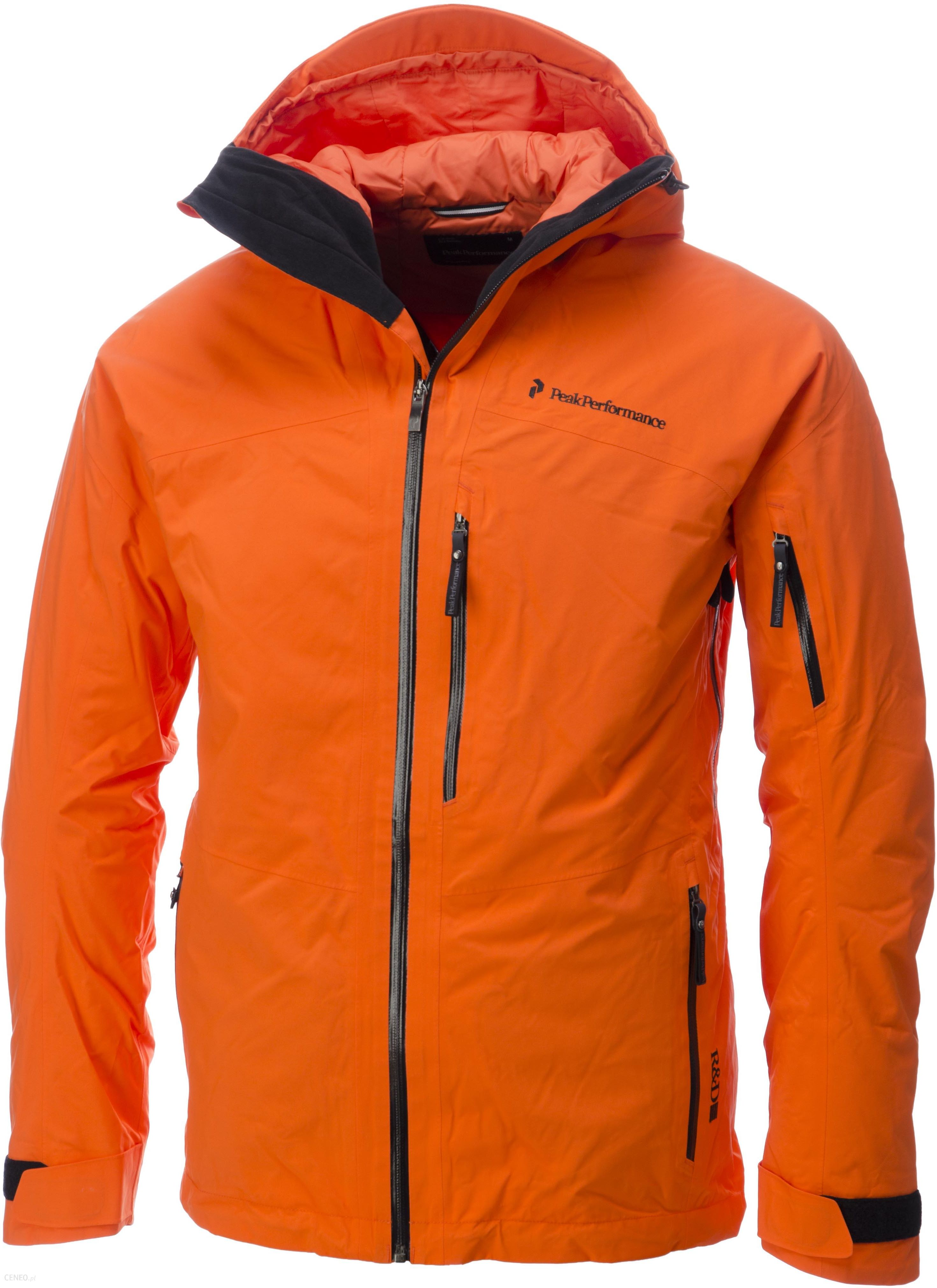 pomarańczowa kurtka narciarska męska