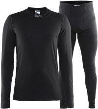 dd24138910b4e3 Craft Be Active, męski komplet termoaktywny: koszulka i spodnie, czarny