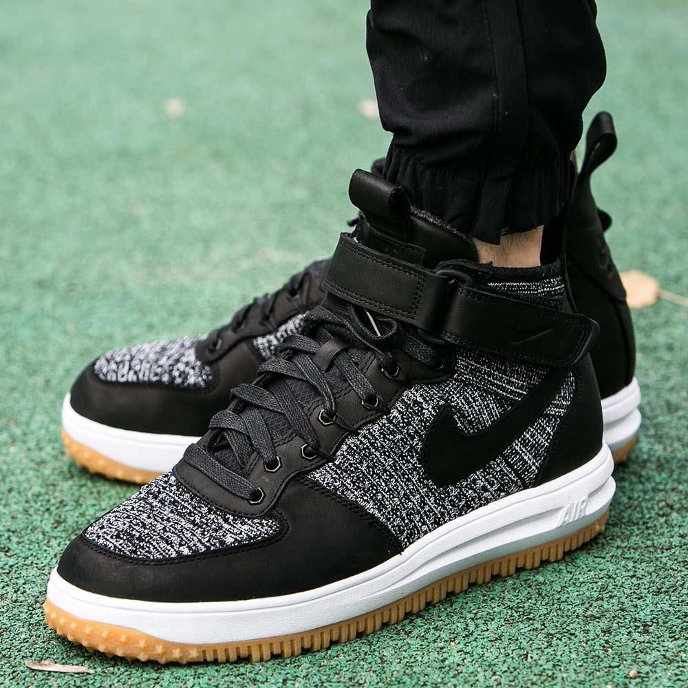 Nike W Lunar Force 1 Flyknit Workboot Black Black White Cool Grey | Footshop
