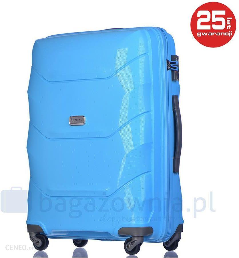 f066231caa2ad Duża walizka PUCCINI PP011A 7 Błękitna - błękitny - Ceny i opinie ...