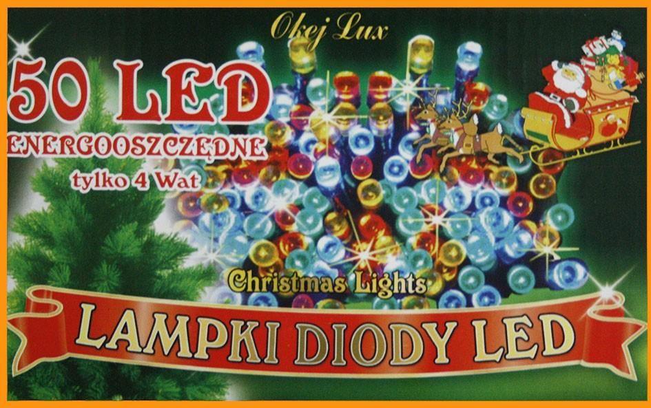 Lampki Choinkowe Sznur Wewnętrzne 3m 50 Led 6 Kolorów Do Wyboru Oświetlenie świąteczne Nr 180