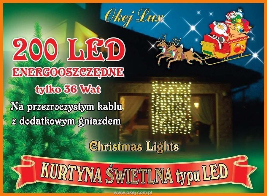 Kurtyna Wewnętrzna 165 M X 2m 200 Led Wymienne Wiązki Oświetlenie świąteczne Lampki Dekoracyjne Nr 195