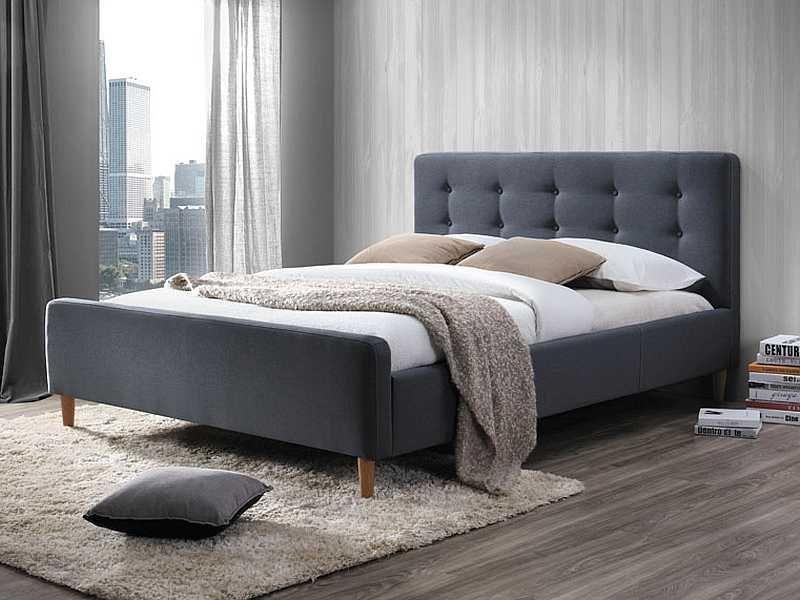 Signal łóżko Pinko 160x200 Granatowe