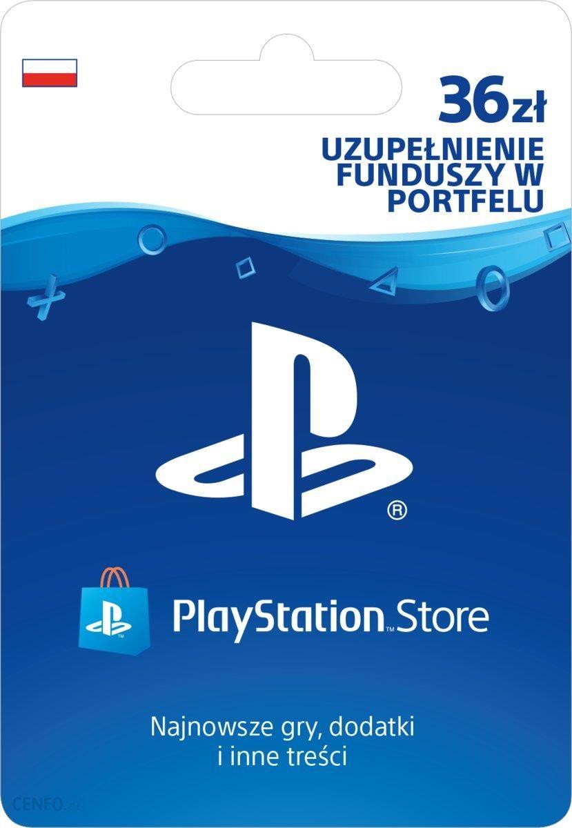 Sony Playstation Network 36 Zl Karta Pre Paid Podarunkowa Ceny