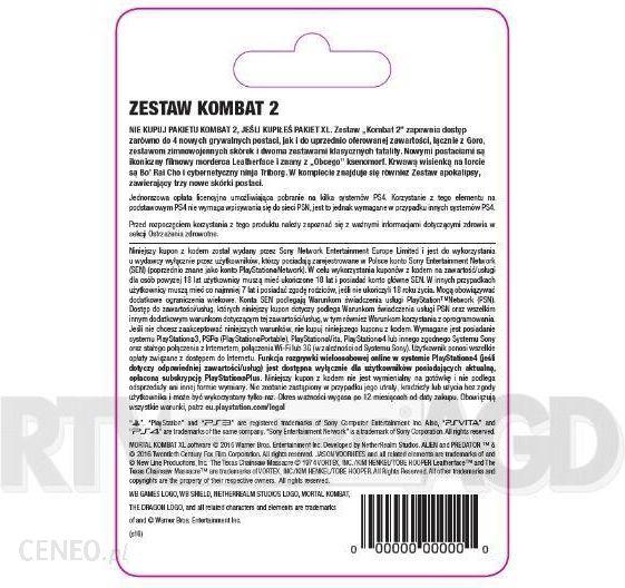 8f6901ed6db9b5 Mortal Kombat X Zestaw Kombat 2 - Karta Pre-paid / Podarunkowa ...