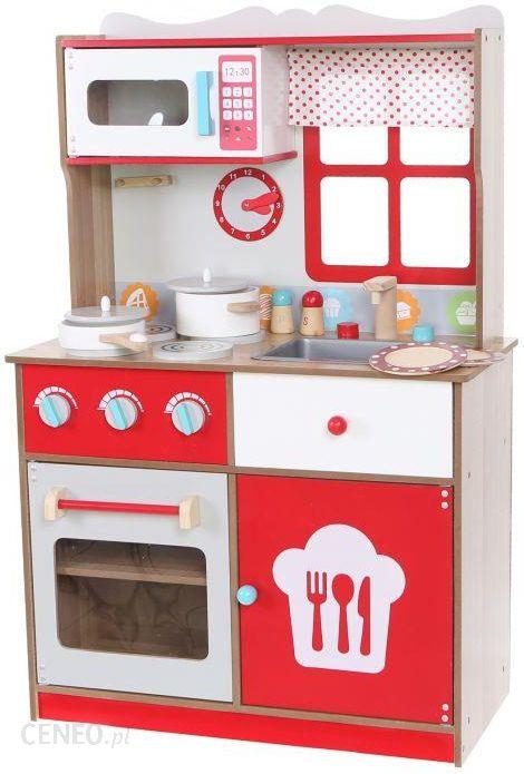 Ecotoys Kuchnia Drewniana Z Wyposazeniem 4253 Ceny I Opinie Ceneo Pl