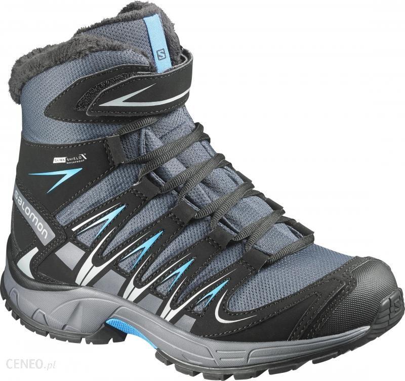 Buty trekkingowe Salomon XA Pro 3D Winter TS CS WP Buty Dzieci szaryniebieski 33 Buty turystyczne Ceny i opinie Ceneo.pl