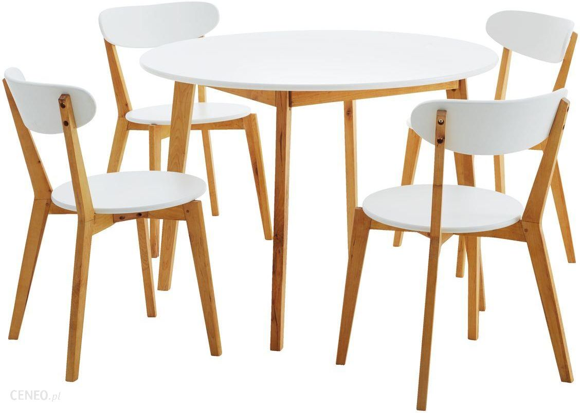 Jysk Stol 105 4 Krzesla Jegind Natur Bialy Opinie I Atrakcyjne