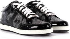 Jimmy Choo Kobiety Sneakersy Miami Mid Cut skóra lakierowana czarne kamuflaż nadruk czarne lama błyszczące