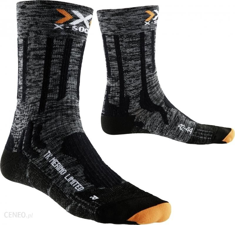 f388d22be52892 X-Socks Trekking Merino Limited Skarpetki Mid szary 45/47 Skarpety  turystyczne - zdjęcie