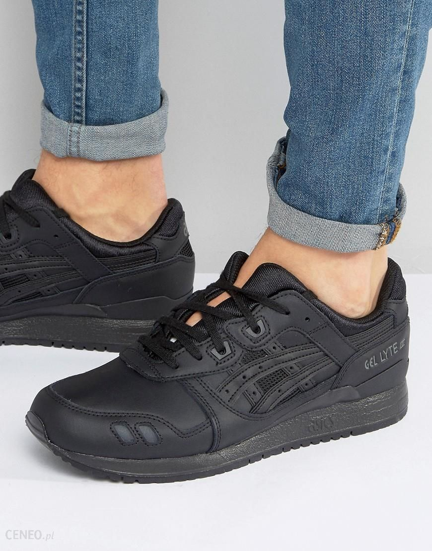 the latest a712d f54ef Asics Gel-Lyte III Leather Trainers in Black HL6A2 9090 - Black - Ceneo.pl