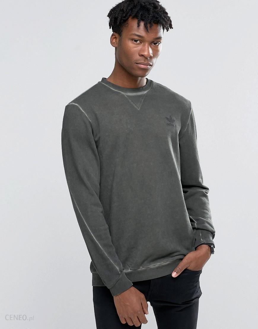 Adidas Originals Street Modern Crew Sweatshirt In Green AY9203 Green Ceneo.pl