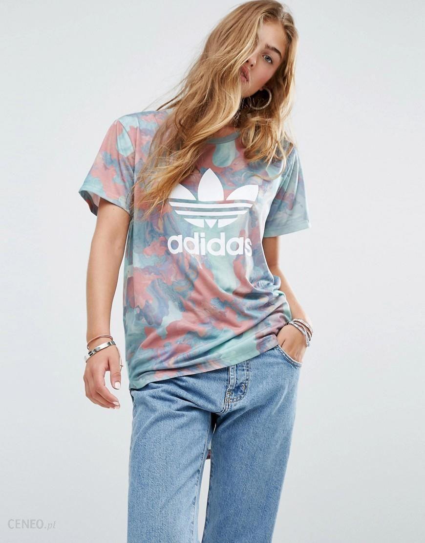 Adidas Originals Pastel Camo Print Trefoil T Shirt Multi Ceneo.pl