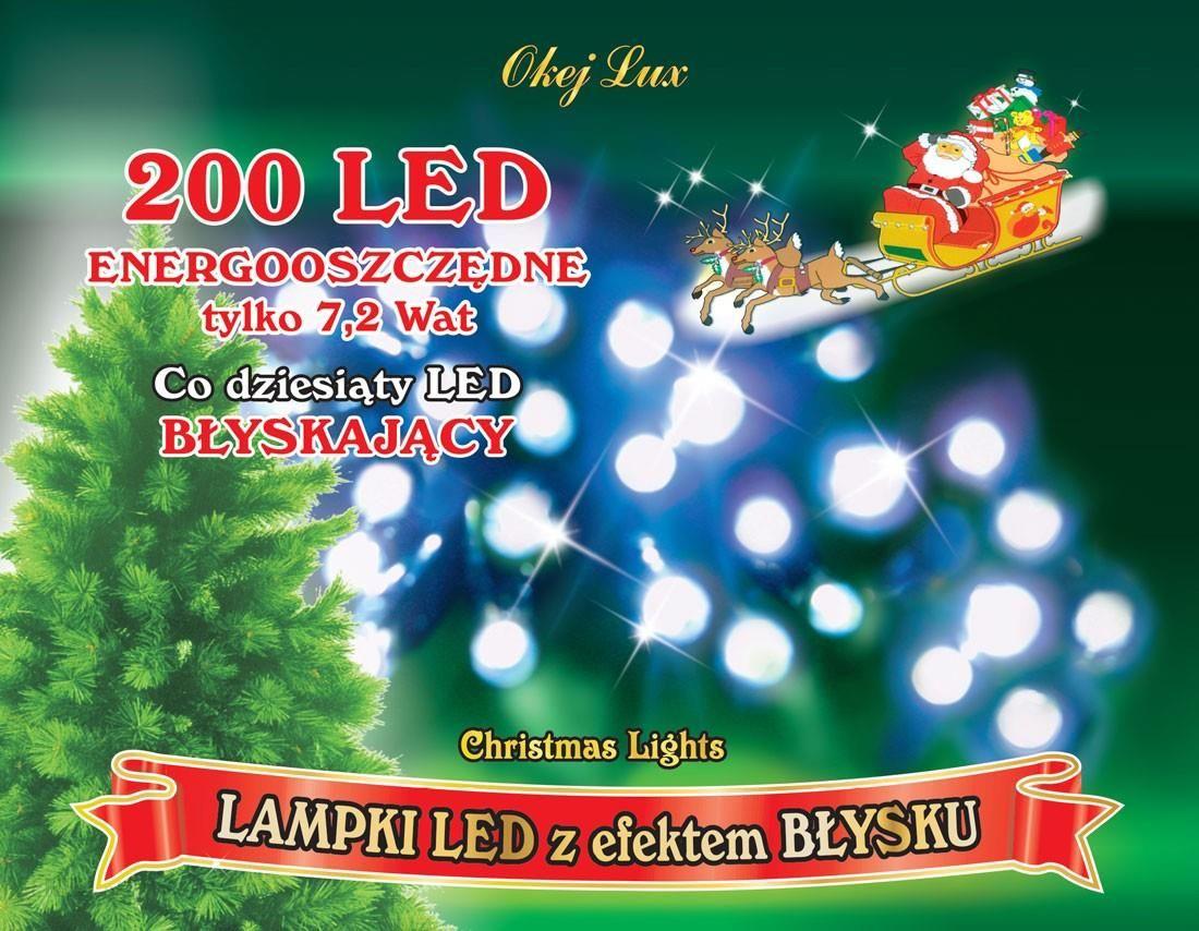 Lampki Choinkowe Wewnętrzne Sznur świetlny Dł 10 M Migające Oświetlenie świąteczne Nr 224