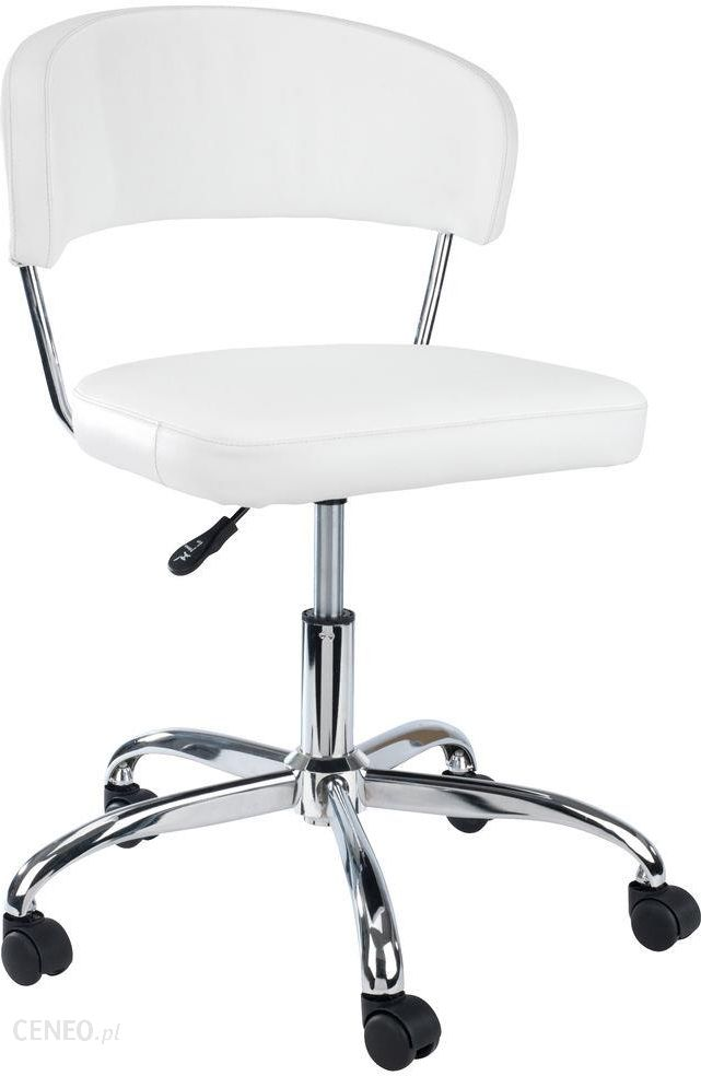 Krzesło biurowe białe obrotowe skóra ekologiczna