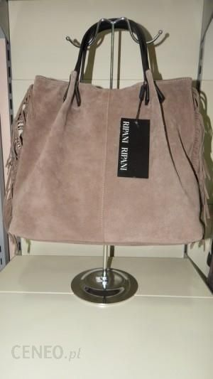 850aef52a219d RIPANI torebka skóra naturalna GARDENA NN shopper bag w stylu boho -  zdjęcie 1