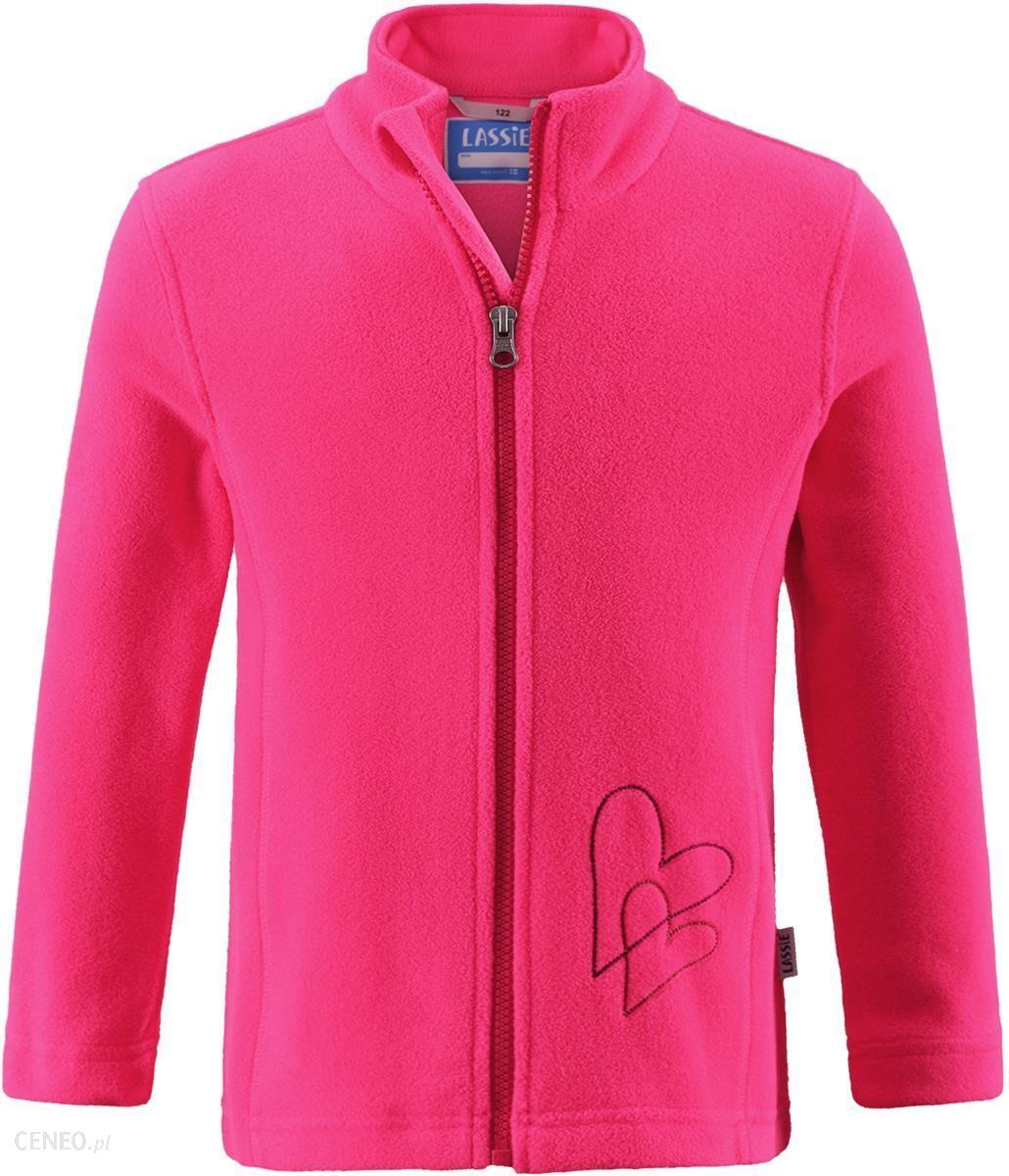 5e89818829f295 Lassie Dziewczęca bluza polarowa Fleece Jacket Neon Raspberry 098 - zdjęcie  1