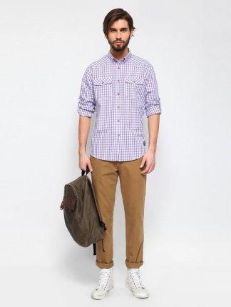 be178f989414b7 Top Secret SKL1684FI. Koszula męska długi rękaw - violet, rozmiar 44/45 -